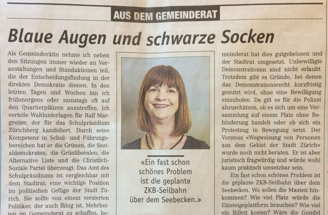 Kolumne Züriberg Marianne Aubert